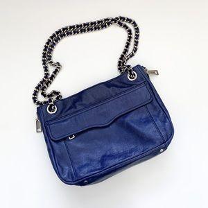 Rebecca Minkoff Swing Purse Royal Blue Leather